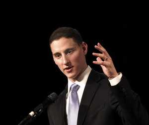 Ohio Treasurer Josh Mandel speaks at the Cuyahoga County Republican Party's Lincoln Day dinner March 2011. Several of Mandel's statements as he campaigns for a U.S. Senate seat have earned low ratings on the Truth-O-Meter.