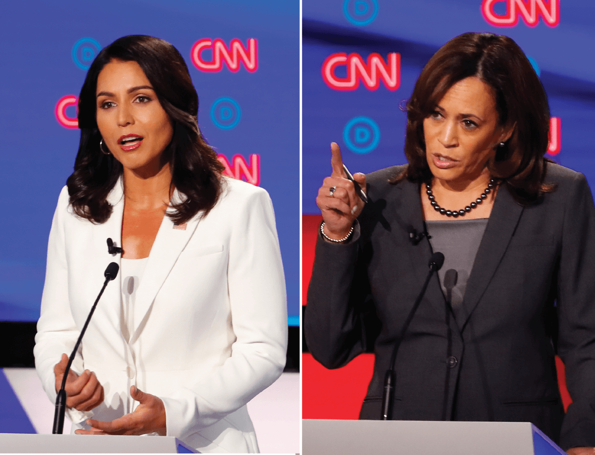 Were Tulsi Gabbard's attacks on Kamala Harris' record as a