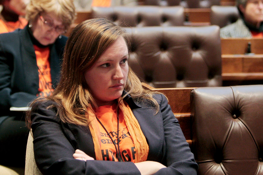 "Kelda Helen Roys, shown here in her role as a state lawmaker in 2011, is accused by the Wisconsin GOP of ""pretending to be gay"" at a 2011 gay pride parade. (AP)"