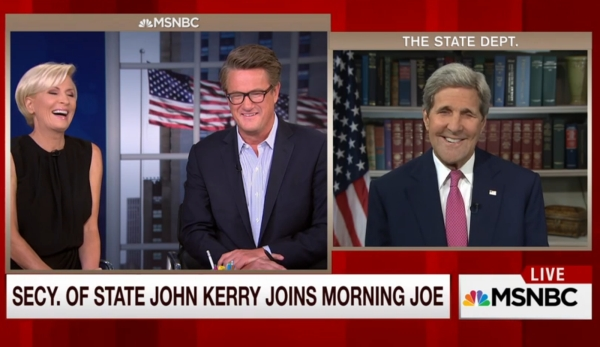 "Secretary of State John Kerry appeared on MSNBC's ""Morning Joe"" on Sept. 2, 2015."