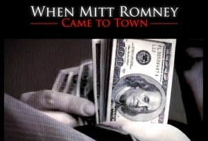 Using a style reminiscent of Michael Moore, <i> King of Bain </i> portrays Mitt Romney as a greedy corporate raider who pillaged companies.