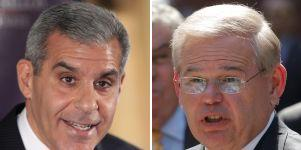 Republican State Sen. Joe Kyrillos, left, is preparing to challenge U.S. Sen. Robert Menendez, a Democrat, in the Nov. 6 general election.