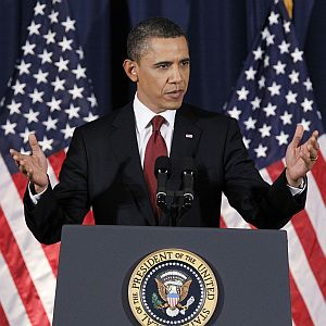 President Obama speaks on Libya last week at the National Defense University in Washington, DC