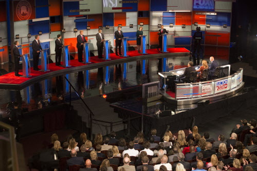 GOP presidential candidates appeared at a debate in Milwaukee Nov. 10