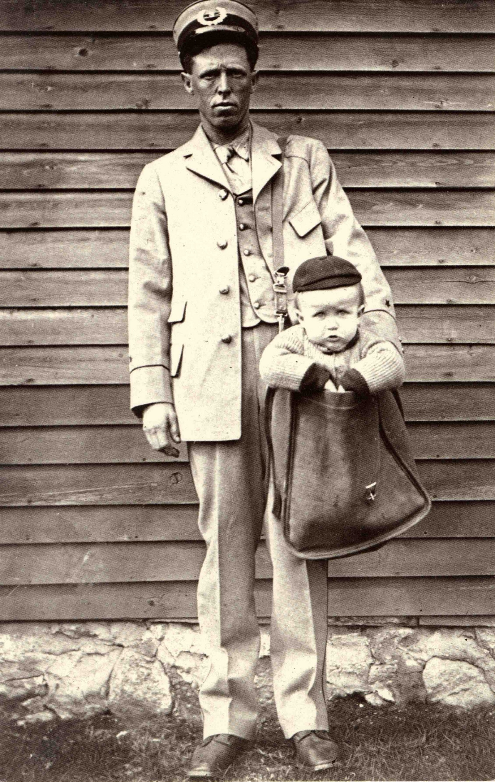 Carriers had fun with the idea of mailing babies. Photo courtesy of the Smithsonian National Postal Museum