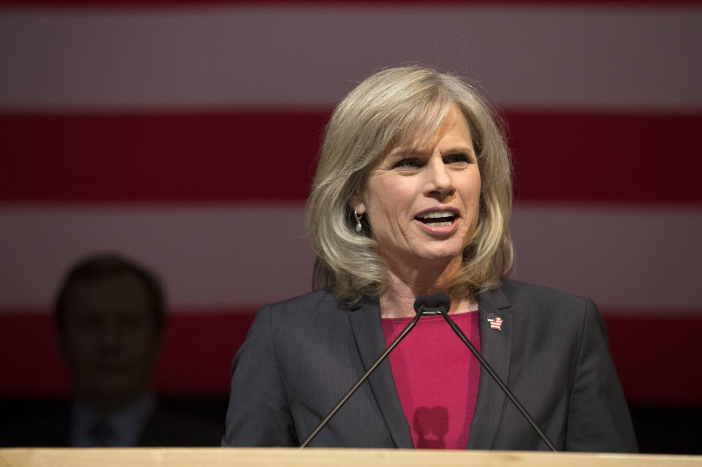 Walker defeated Democrat Mary Burke in 2014 to win a second term. (Mark Hoffman/Milwaukee Journal Sentinel)