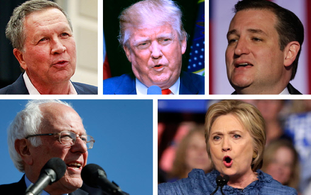 The five remaining presidential candidates are descending on Wisconsin ahead of the state's primary election on April 5, 2016.