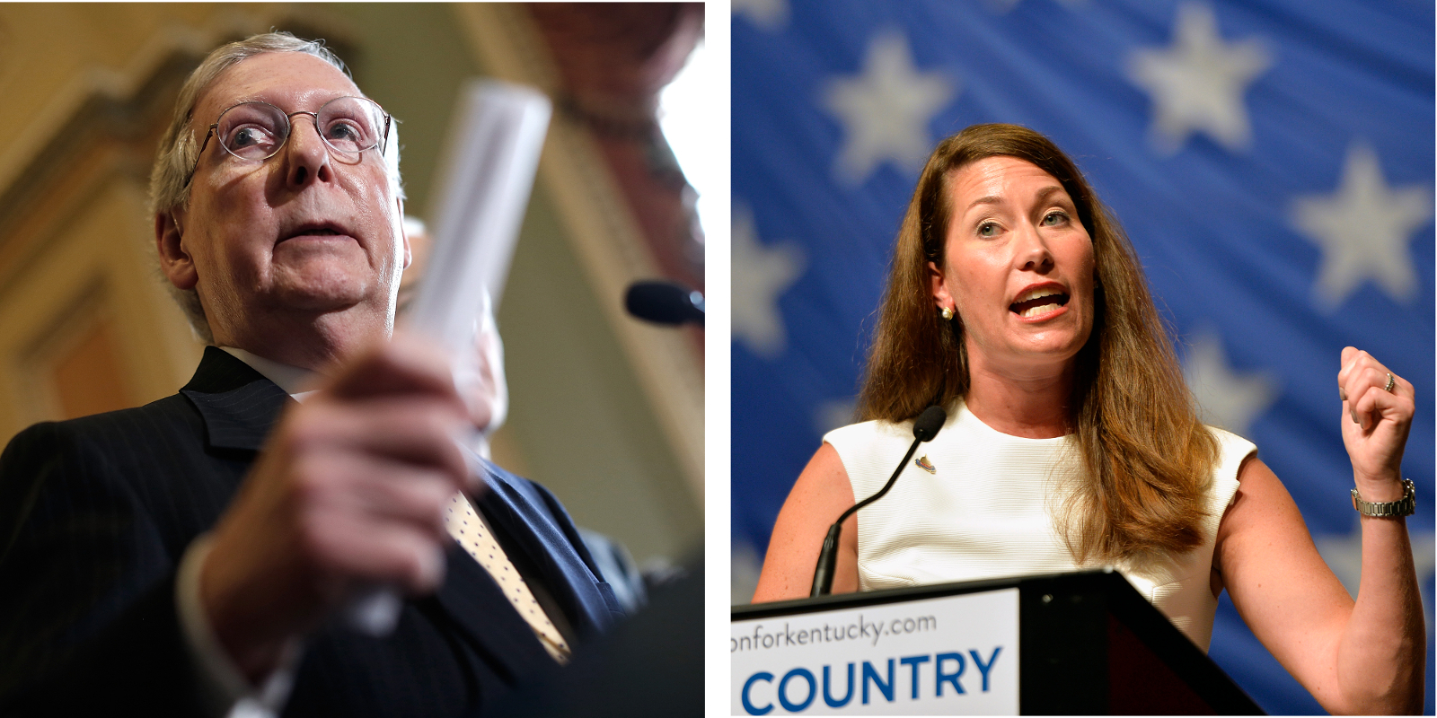 Sen. Mitch McConnell, R-Ky., and Alison Lundergan Grimes, a Democrat, are engaged in a heated Senate race.