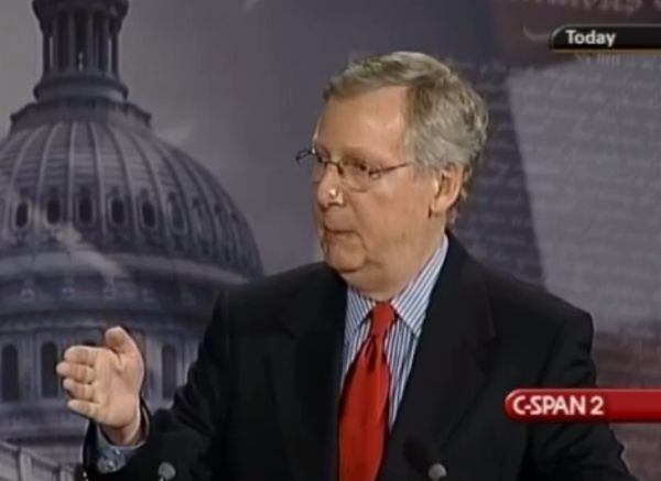 Sen. Mitch McConnell sang a different tune about secrecy in health-care bill drafting in 2009, when this press conference was held.