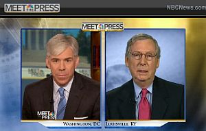 David Gregory interviews Sen. Mitch McConnell, R-Ky., on 'Meet the Press.'