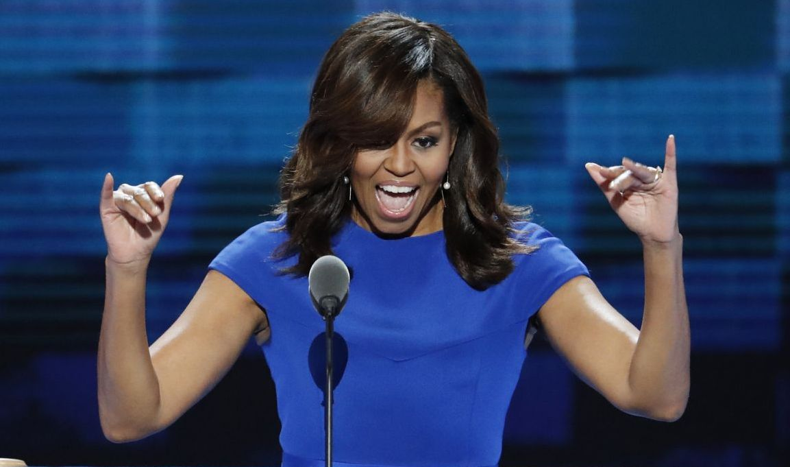 st Lady Michelle Obama takes the stage during the first day of the Democratic National Convention in Philadelphia. (AP)