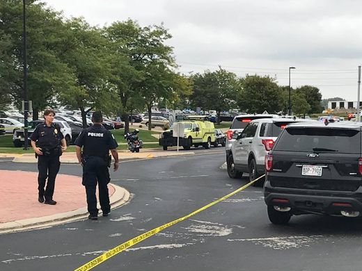A mass shooting occurred on Sept. 19, 2018 at a software company in Middleton, Wis., near Madison. (Keegan Kyle/USA Today Network-Wisconsin)