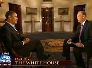 Fox News host Bill O'Reilly interviewed President Obama at the White House on Sunday.