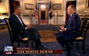 Fox News' Bill O'Reilly's interview of President Barack Obama aired on Super Bowl Sunday.