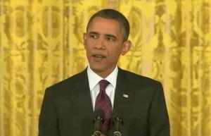 President Barack Obama speaks at a press conference on June 29, 2011.