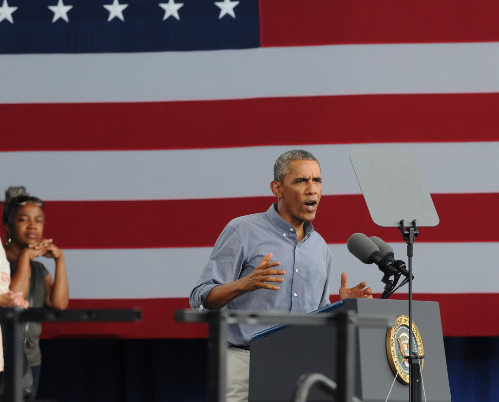 President Barack Obama touched on jobs, business climate and other economic topics during his Labor Day speech in Milwaukee on Sept. 1, 2014.