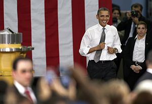President Barack Obama visited Arden, N.C., the day after delivering the State of the Union address. (AP Photo)