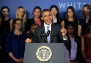 President Barack Obama spoke at Valencia College in Orlando on March 20, 2014. (AP Photo)