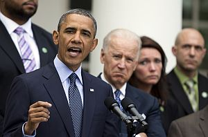 President Barack Obama speaks about measures to reduce gun violence, in the Rose Garden of the White House. (AP Photo)