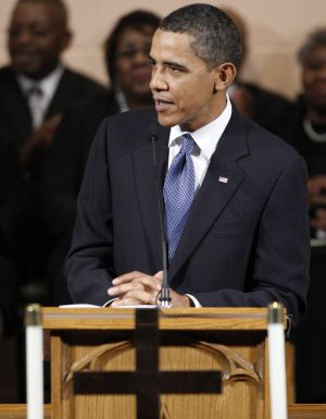 President Obama at a Washington church