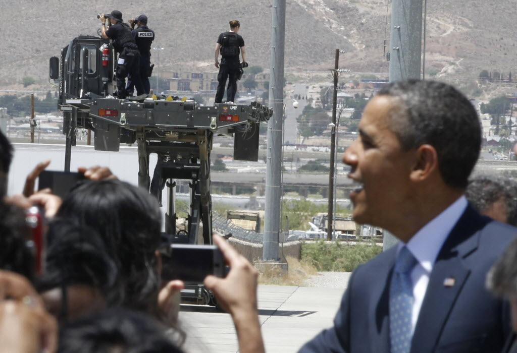 Texas Gov. Rick Perry was not in the picture when President Barack Obama visited El Paso this week.