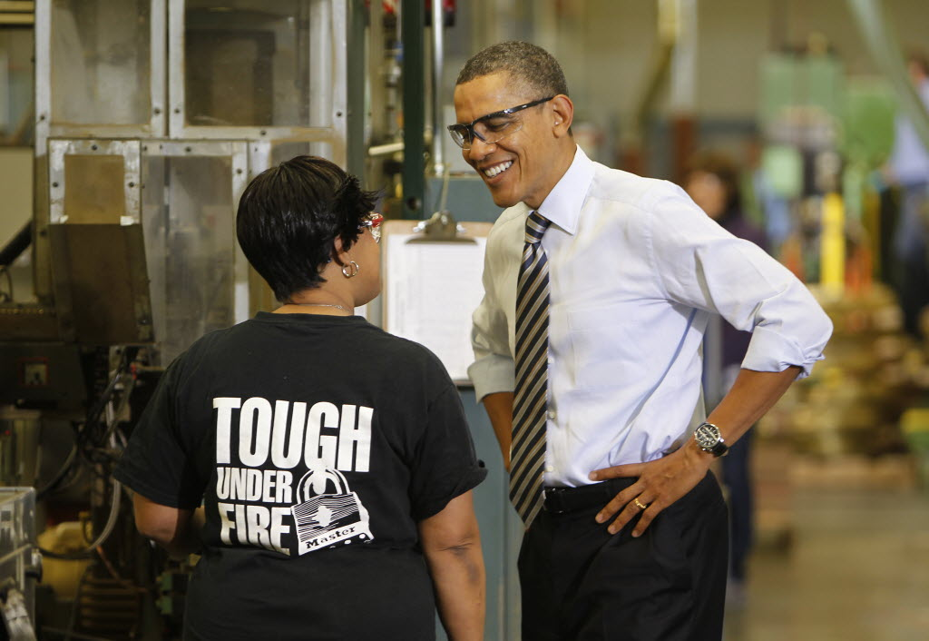 President Barack Obama toured Master Lock in Milwaukee on Feb. 15, 2012. He is scheduled to visit a GE plant in suburban Waukesha on Jan. 30, 2014.