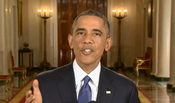 President Barack Obama announces his new policy on deportation of undocumented immigrants in a prime-time address from the White House on Nov. 20, 2014.