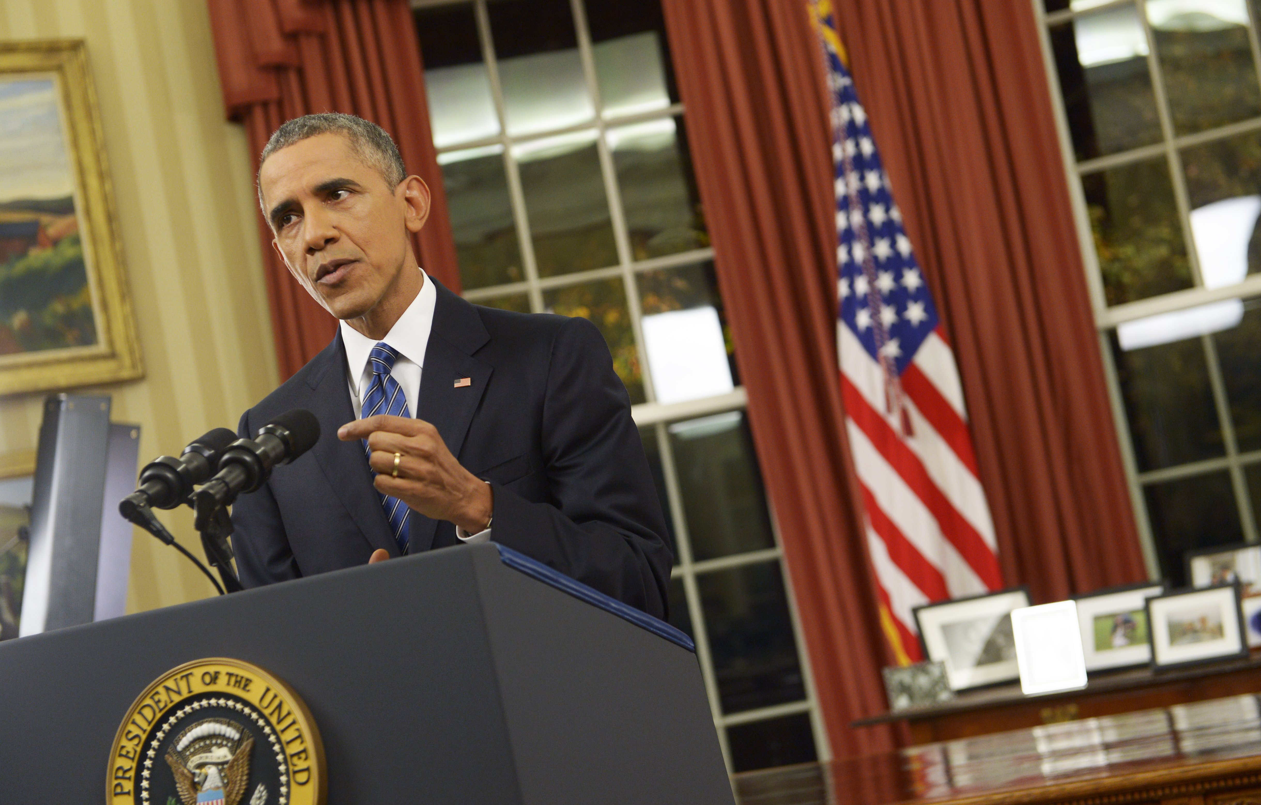 President Barack Obama talks about terrorism in an Oval Office speech on December 6, 2015.