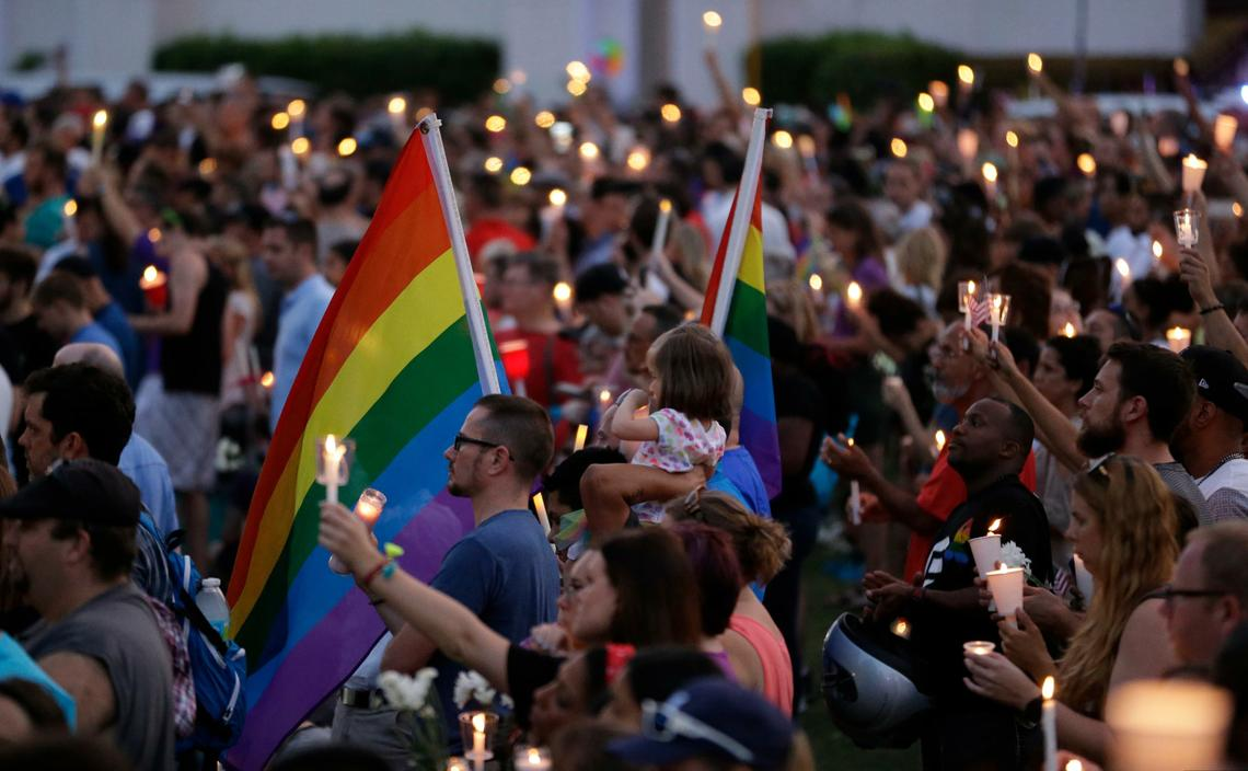 The Orlando community held a vigil after the Pulse nightclub shooting. (Associated Press)
