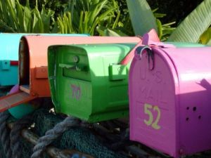 Some of our readers' comments recently have been as colorful as these mailboxes.