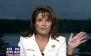 Sarah Palin attacks the Democratic proposal on letting the Bush tax cuts expire for the wealthy.