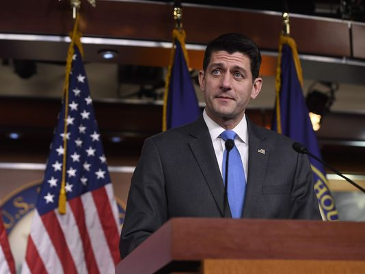 We have fact checked statements made by U.S. House Speaker Paul Ryan, shown here announcing he won't seek re-election, 84 times. (Getty Images)
