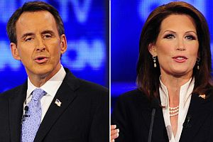 Tim Pawlenty and Michele Bachmann are competing for the Republican nomination for president.