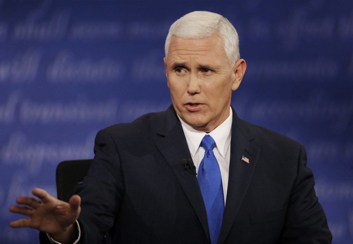 Pence's support for conversion therapy not a settled matter