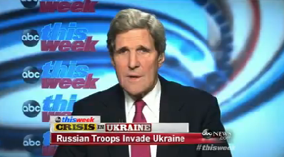 """Secretary of State John Kerry talked about the crisis in Ukraine on ABC's """"This Week."""""""