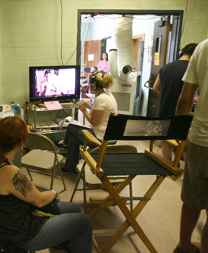 A Michael Corrente movie being shot at the old Cranston police station in July, 2010. The Providence Journal/Kathy Borchers