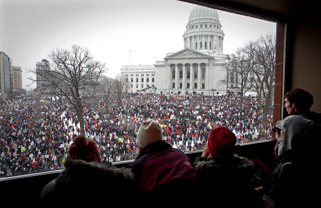 Rallies in Madison over collective bargaining changes were just one of the things that kept us busy in our first year.