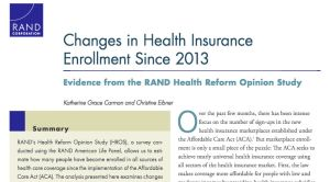 The RAND study looked at the entire insurance picture but some news outlets picked out certain points.