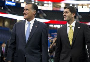 Mitt Romney and Paul Ryan did a walk-through of the convention hall on Aug. 30.