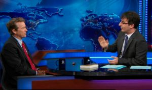 "Sen. Rand Paul, R-Ky., discussed health insurance policy with John Oliver on ""The Daily Show."""