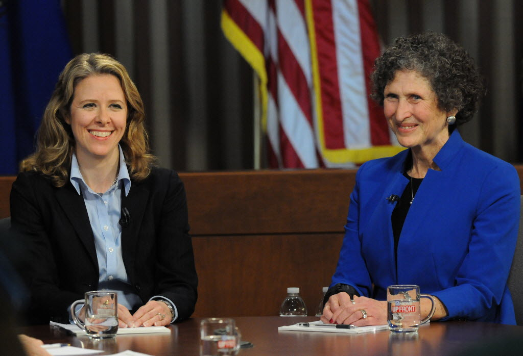 Wisconsin Supreme Court Justice Rebecca Bradley (left) is being challenged in the April 5, 2016 Supreme Court race by state Court of Appeals Judge JoAnne Kloppenburg. (Michael McLoone photo)