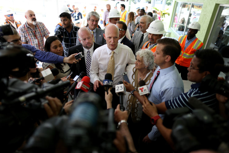 """Gov. Rick Scott denied reports that state banned the term """"climate change"""""""