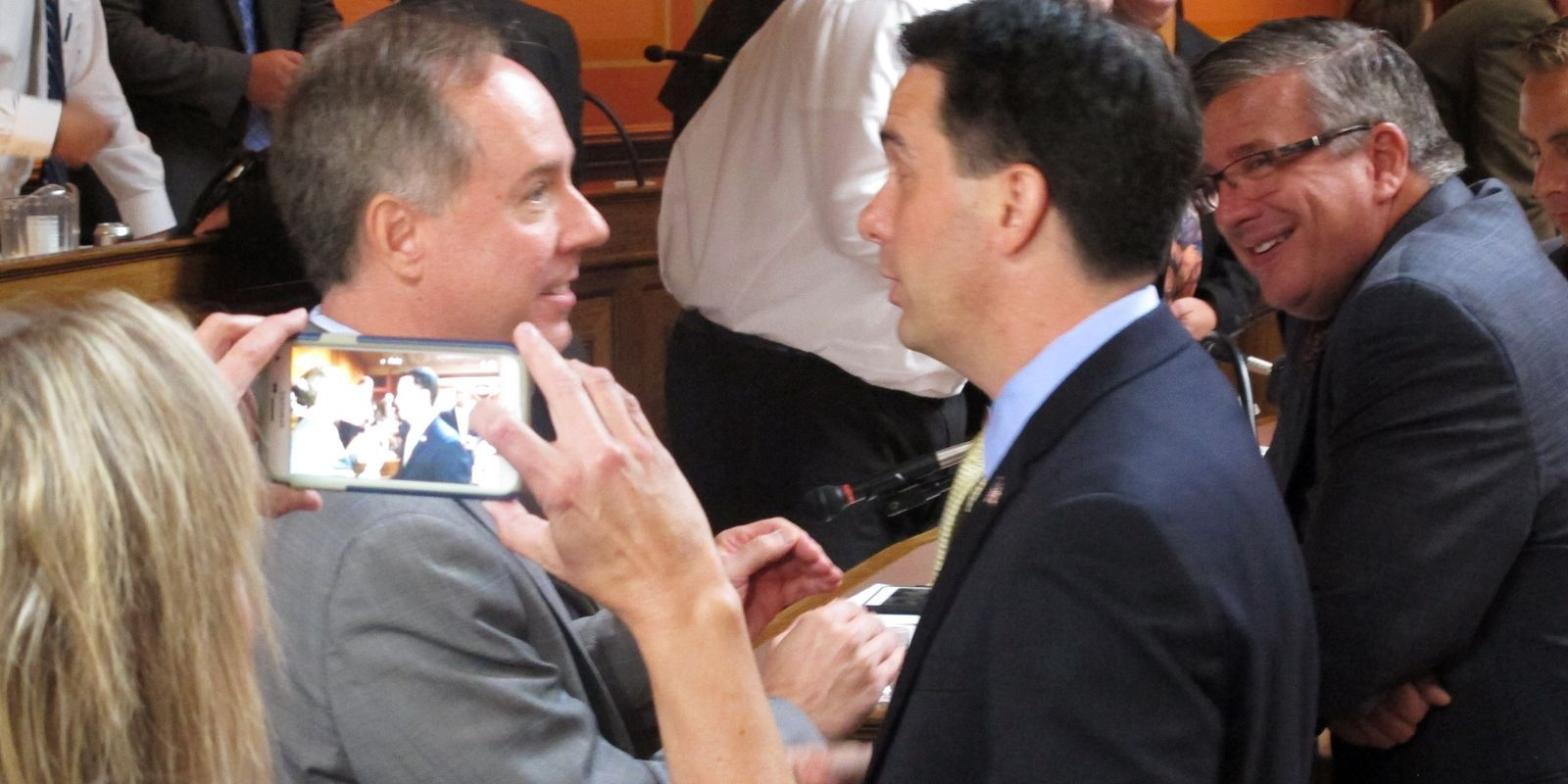 Vos also criticized GOP Gov. Scott Walker, despite their close political relationship. (Associated Press)