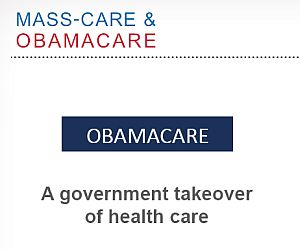 "In a PowerPoint presentation, Romney said the new health care law is a ""government takeover."""