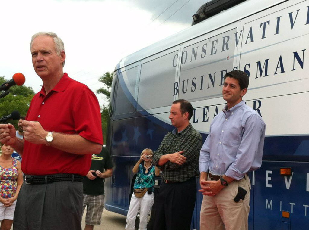 Claims by three Wisconsin Republicans (from left) -- U.S. Sen. Ron Johnson, former White House chief of staff Reince Priebus and U.S. House Speaker Paul Ryan -- are relevant again, as the Iran nuclear deal is in the news.  (Milwaukee Journal Sentinel)