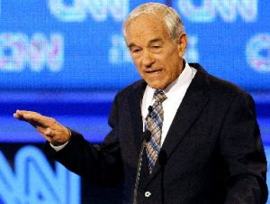 Republican presidential candidate Rep. Ron Paul, R-Texas, gestures during a Republican presidential debate on Sept. 12, 2011, in Tampa.