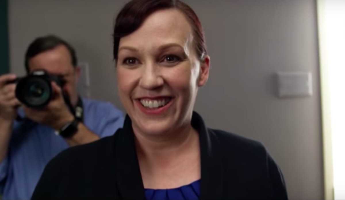 Screenshot from Mary Jennings Hegar's viral campaign ad.