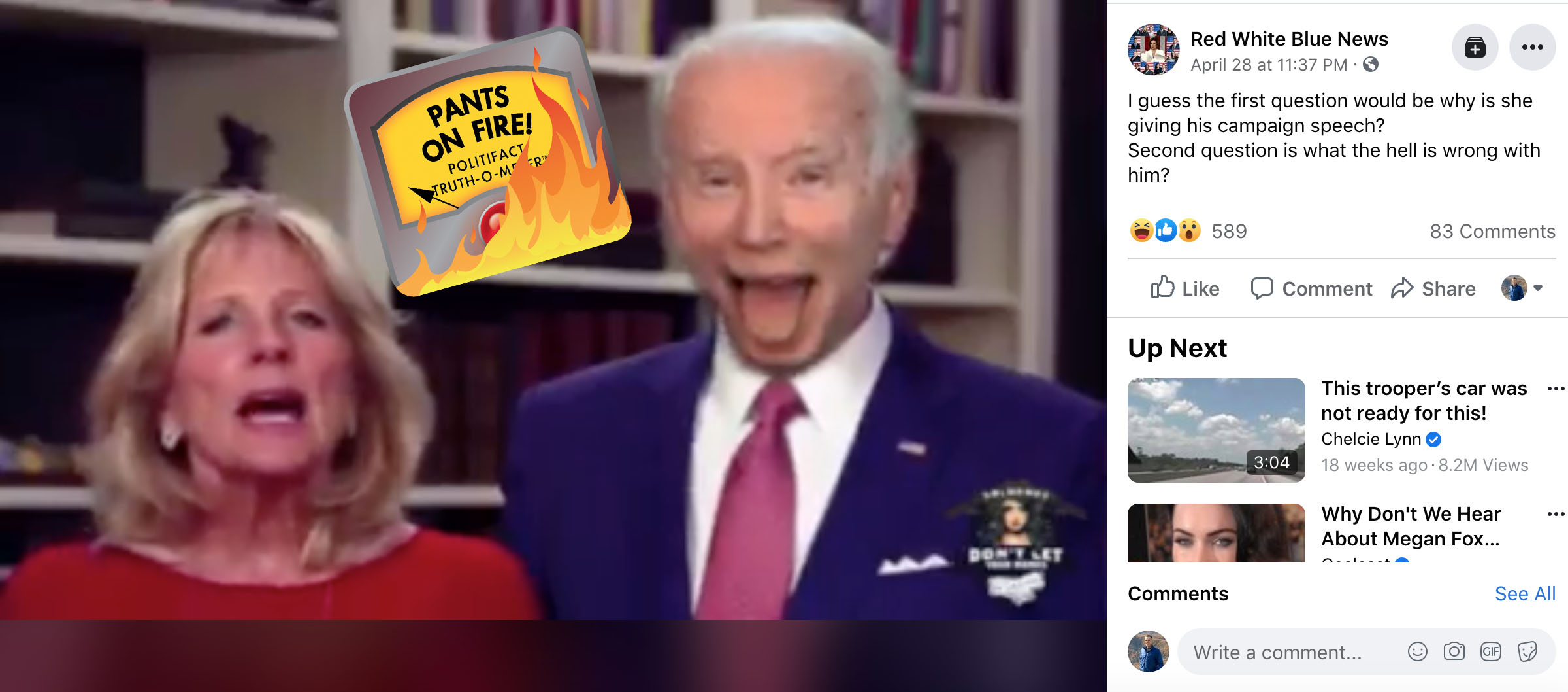 Politifact How A Parody Gif Of Biden Lolling His Tongue Became A Manipulated Video On Facebook