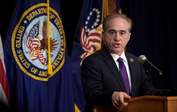 Veterans Affairs Secretary David Shulkin makes an announcement at the Department of Veterans Affairs in Washington on June 5, 2017. (AP/Susan Walsh)