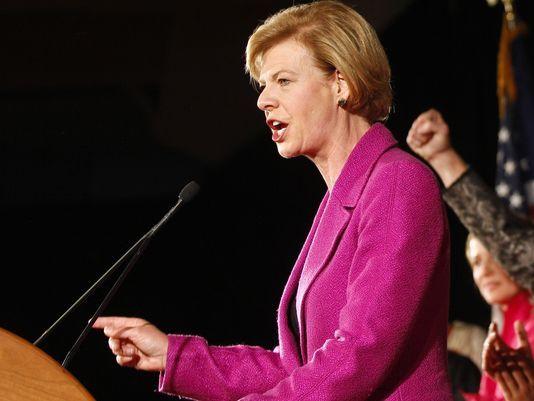 U.S. Sen. Tammy Baldwin, D-Wis., says the GOP plan would unfairly benefit health care executives. (AP)